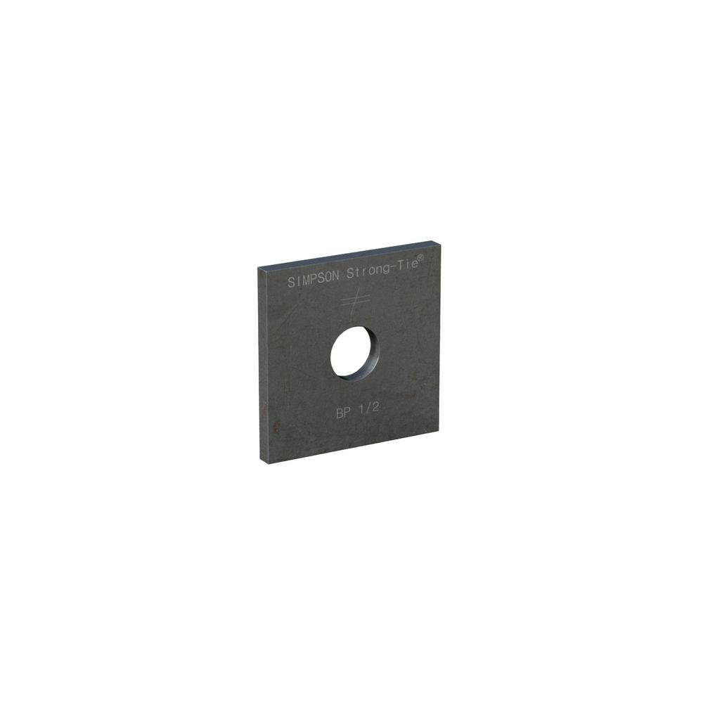 Simpson Strong-Tie BP 1/2 in. Bolt Diameter 2 in. x 2 in. Bearing Plate