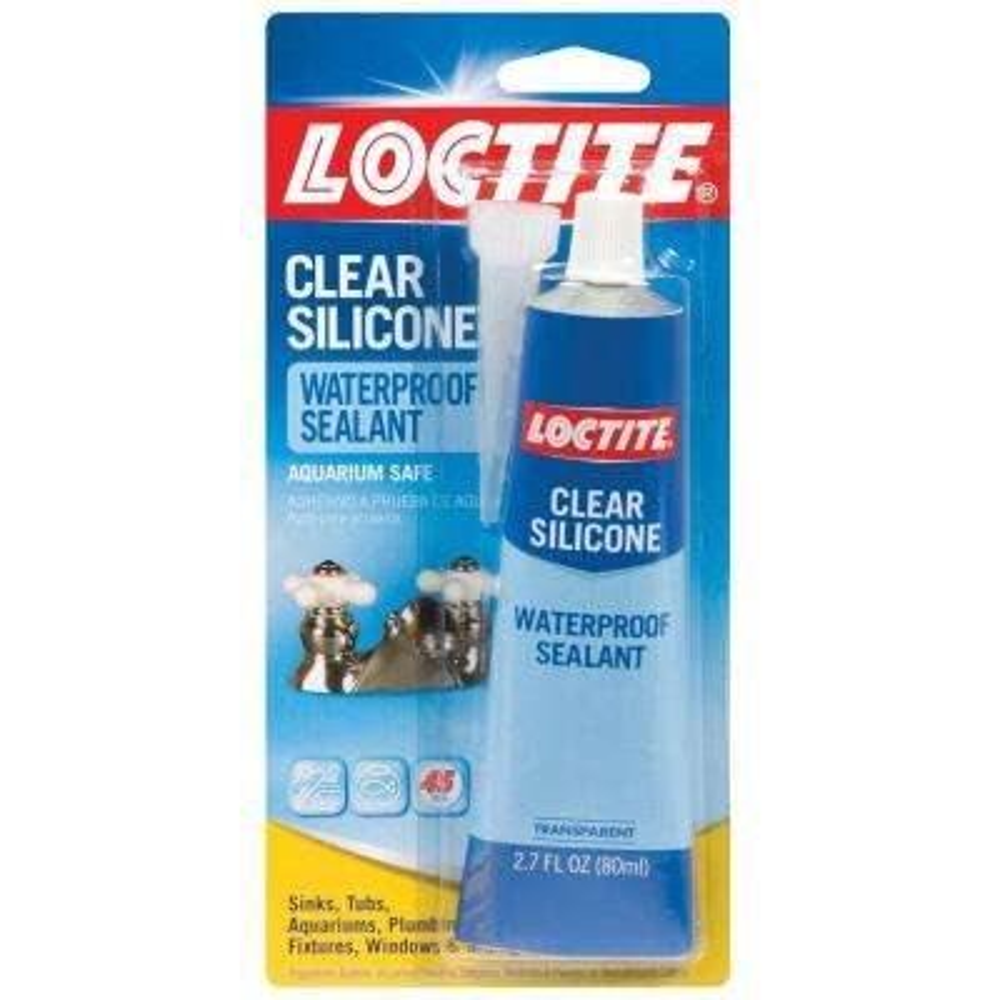 Clear Silicone 2.7 fl. oz. Waterproof Sealant