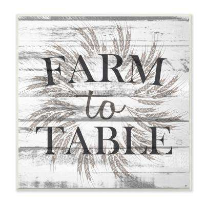 "12 in. x 12 in. ""Farm to Table Grey and White Planked Look"" by Kimberly Allen Wood Wall Art"