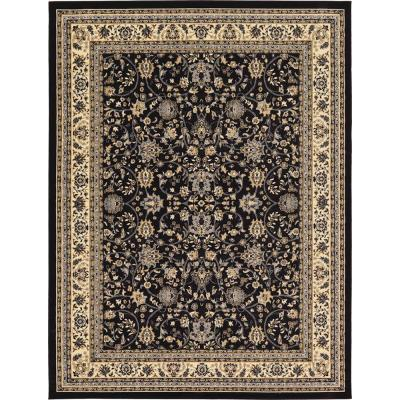 Sialk Hill Washington Black 9' 0 x 12' 0 Area Rug