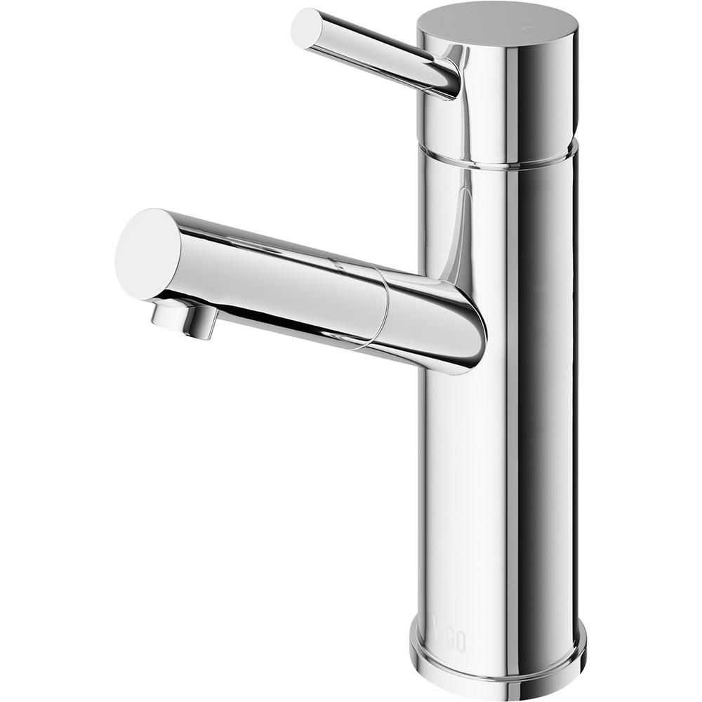 VIGO Single Hole Single-Handle Bathroom Faucet in Chrome