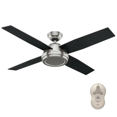 Dempsey 52 in. Indoor Brushed Nickel Ceiling Fan