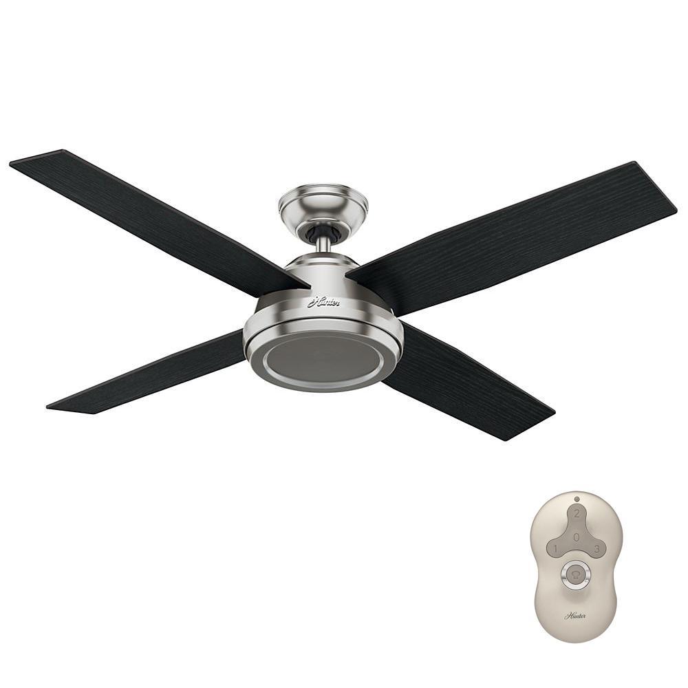 Dempsey 52 in. Indoor Brushed Nickel Ceiling Fan