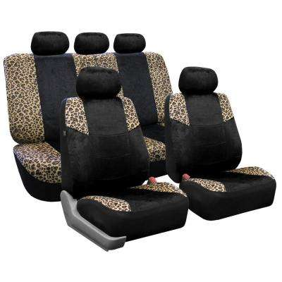 Lush Velour 47 in. x 23 in. x 1 in. Full Set Seat Covers