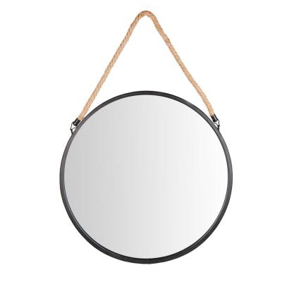Medium Round Black Contemporary Mirror (30.5 in. H x 20.13 in. W)