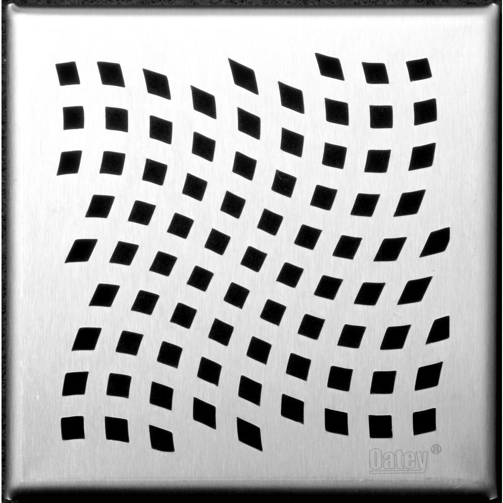 Designline 6 in. x 6 in. Square Drain Wave Grate