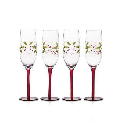 11.3 oz. Winterberry Champagne Glasses (Set of 4)