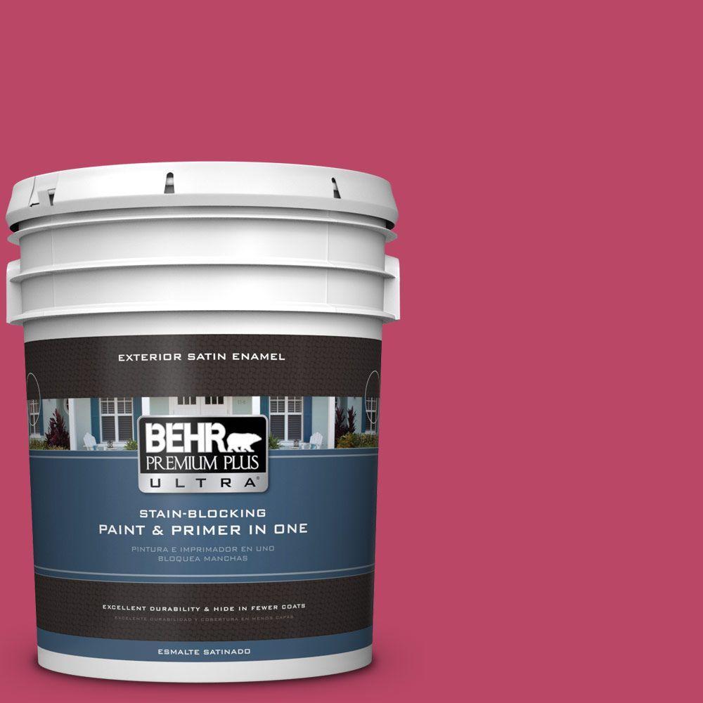 BEHR Premium Plus Ultra 5-gal. #S-G-110 Orchid Rose Satin Enamel Exterior Paint