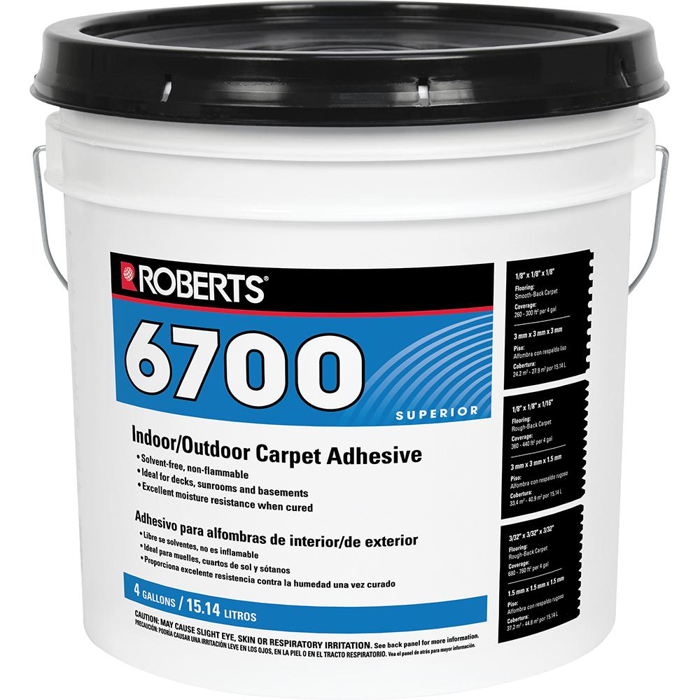 Roberts 4 Gal. Indoor/Outdoor Carpet and Artificial Turf Adhesive ...