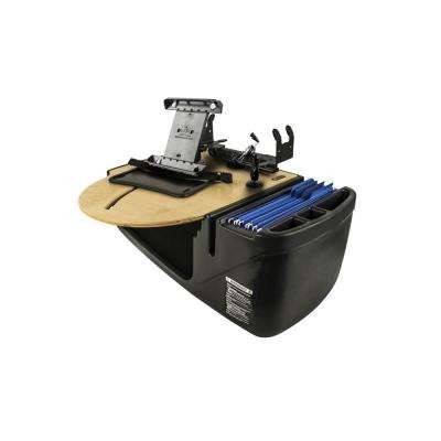 Roadmaster Car Desk with Inverter, Phone Mount, Tablet Mount and Printer Stand Blonde