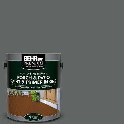 1 gal. #BXC-41 Charcoal Low-Lustre Interior/Exterior Paint and Primer In One Porch and Patio Floor Paint