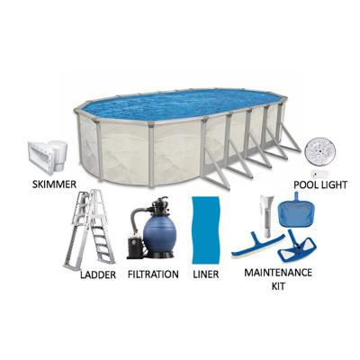 Independence 12 ft. x 24 ft. Oval 52 in. Deep Hard Sided Above Ground Pool Package