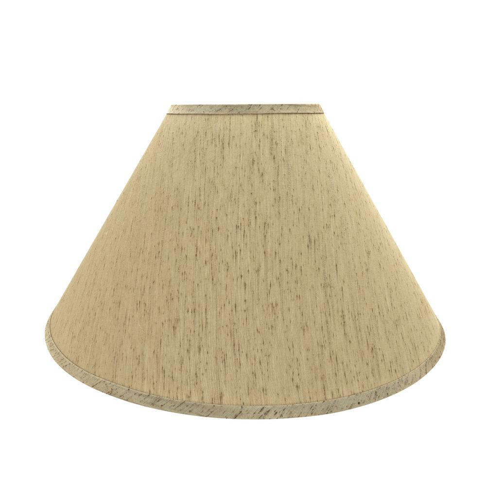 20 in. x 12.5 in. Yellowish Brown Hardback Empire Lamp Shade