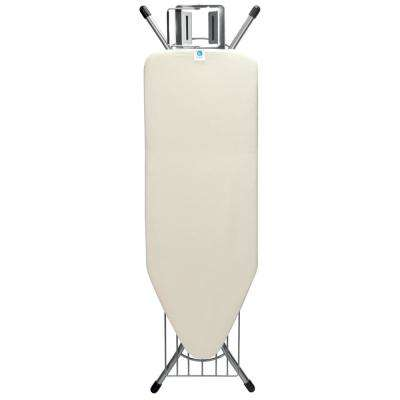 49 in. x 18 in. (124 x 45 cm) Ironing Board C with Steam Iron Rest and Linen Rack