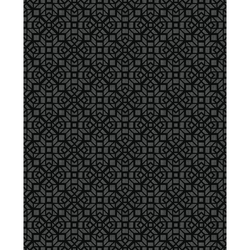 Element Black Mosaic Wallpaper