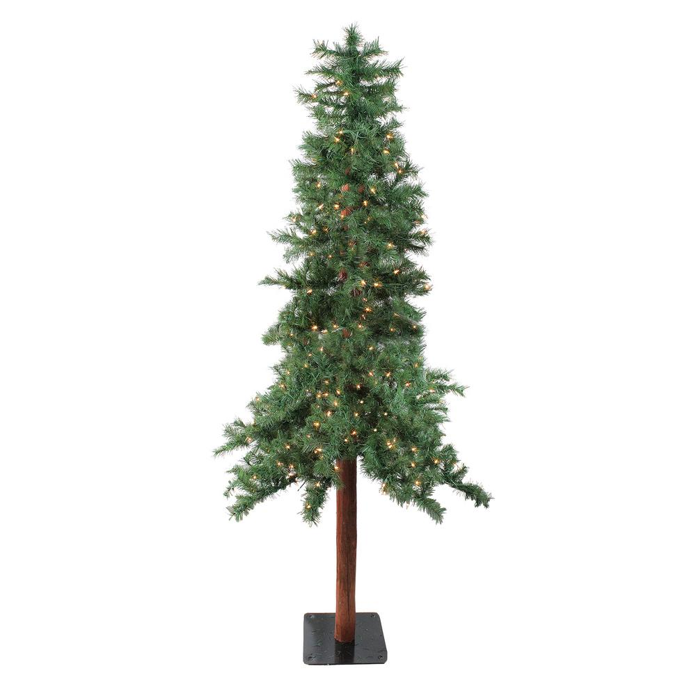 8ft Christmas Tree Pre Lit: Allstate 8 Ft. X 44 In. Pre-Lit Traditional Woodland