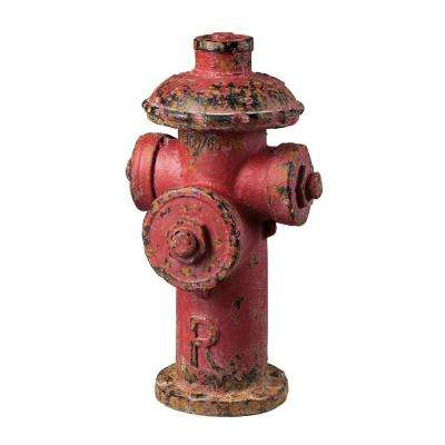 20 in. Distressed Red Decorative Fire Hydrant