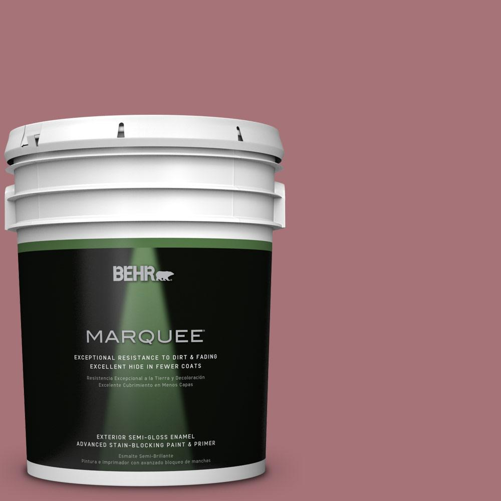 5-gal. #S130-5 Heirloom Rose Semi-Gloss Enamel Exterior Paint