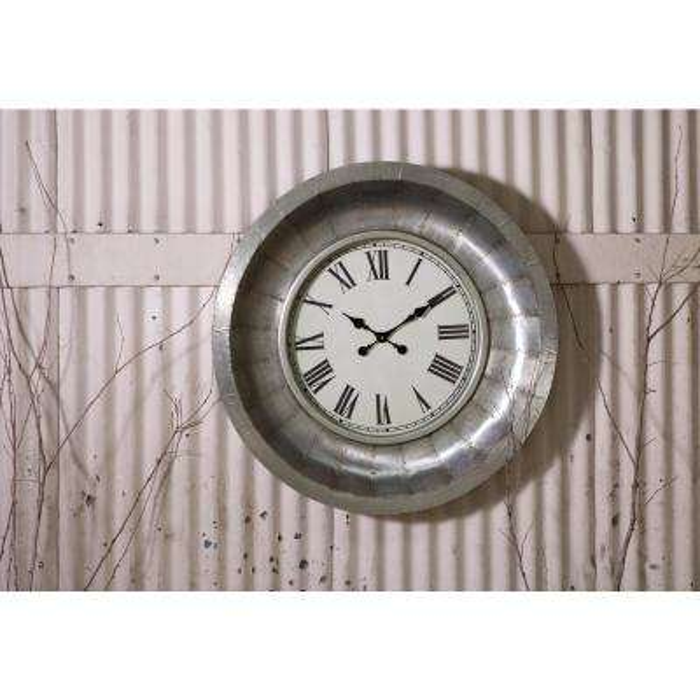 Mesick Silver Aluminum Clock