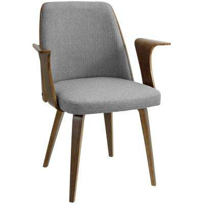 Verdana Walnut and Grey Accent Chair