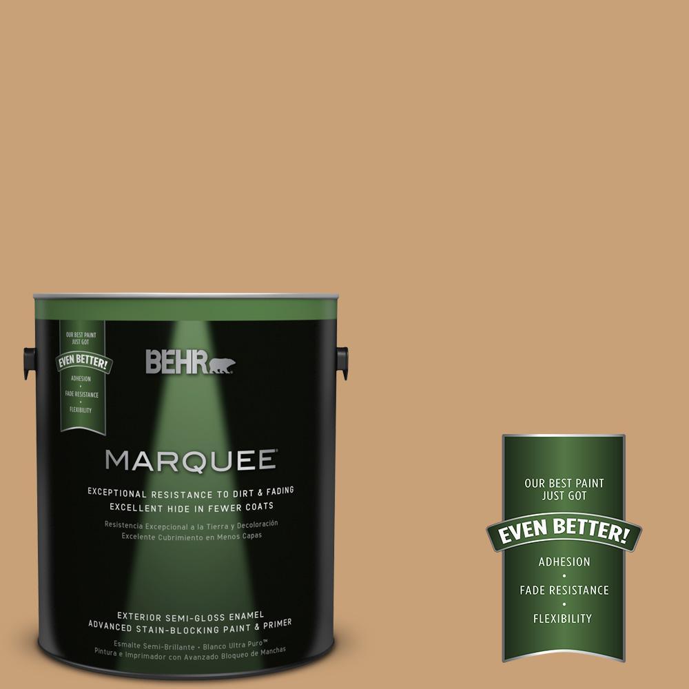 BEHR MARQUEE 1-gal. #BXC-70 Fresh Sawdust Semi-Gloss Enamel Exterior Paint