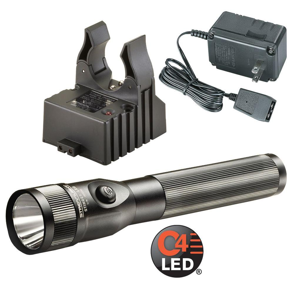 Streamlight Stinger Pro with AC Cord and Charger in Black Body