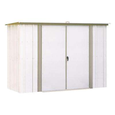8 ft. x 3 ft. Metal Garden Shed