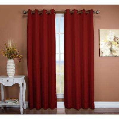 Tacoma 50 in. W x 96 in. L Polyester Double Blackout Grommet Window Panel in Floral Rose