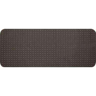 Pindot Chocolate 9 in. x 24 in. Stair Tread Cover