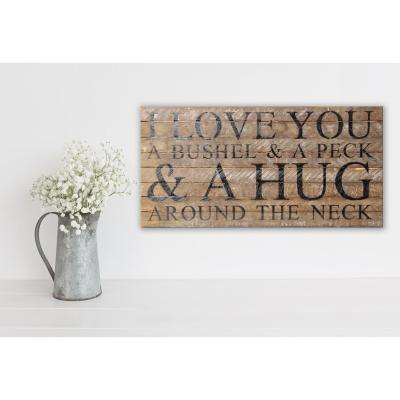 HUG AROUND THE NECK Reclaimed Wood Decorative Sign