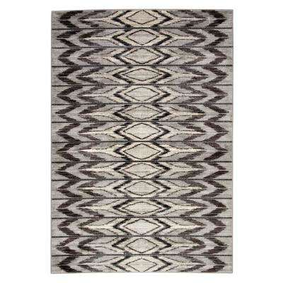 Greyson Gray 5 ft. 3 in. x 7 ft. 6 in. Geometric Rectangle Area Rug