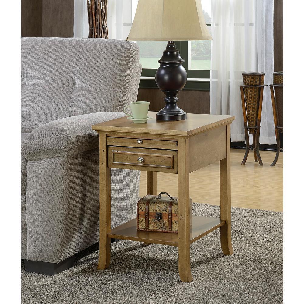 Convenience Concepts American Heritage Logan Antique Walnut End Table by Convenience Concepts