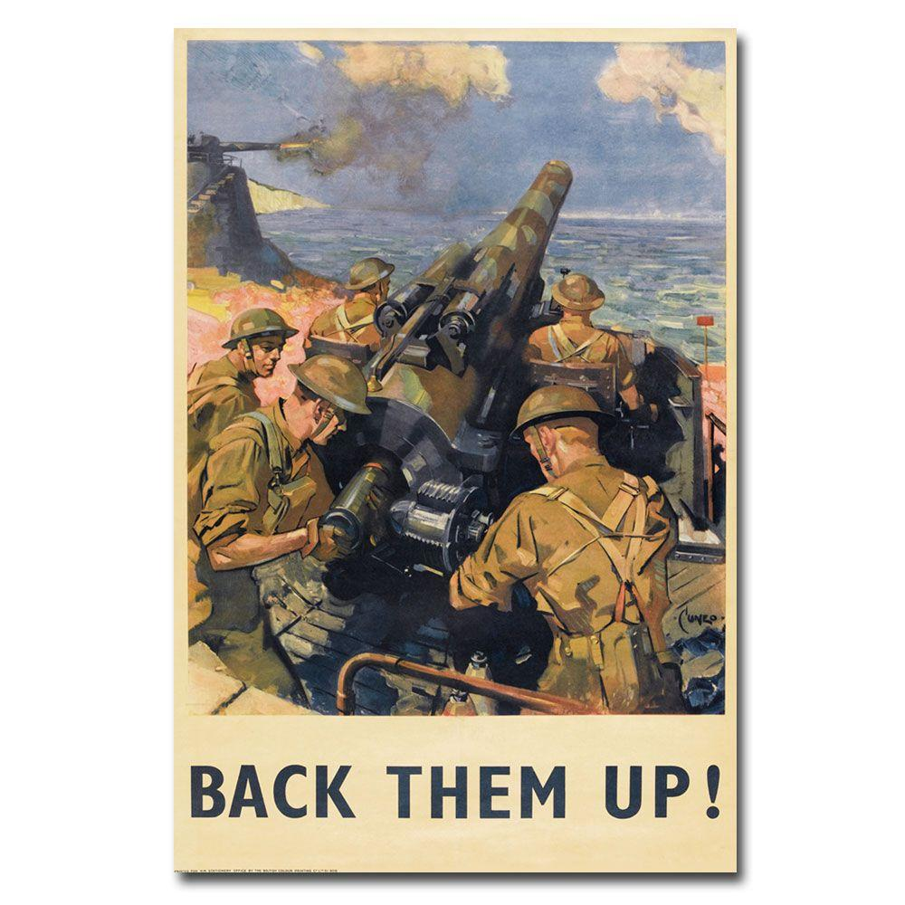 22 in. x 32 in. Back Them Up 1941 Canvas Art