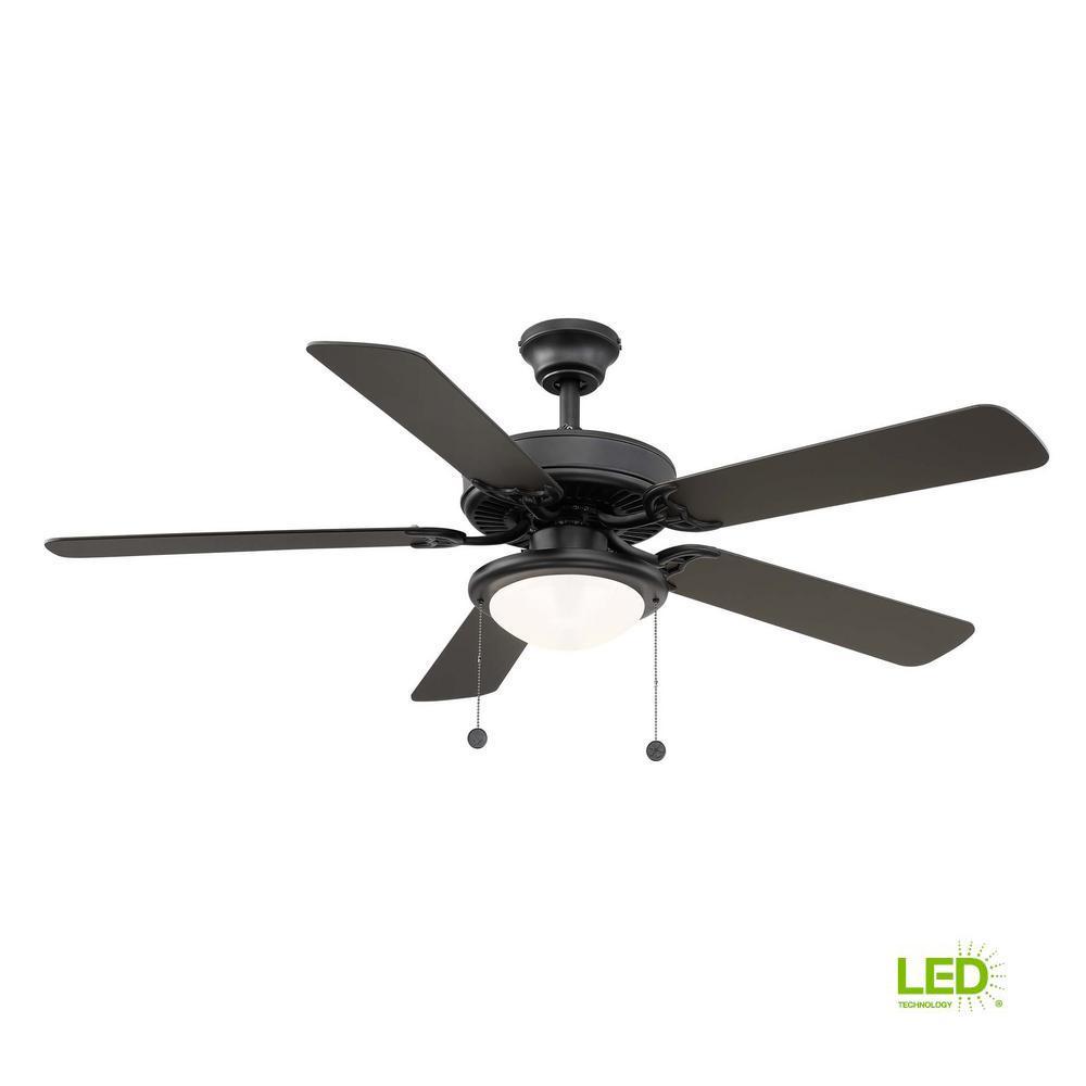 Trice 52 in. LED Black Ceiling Fan