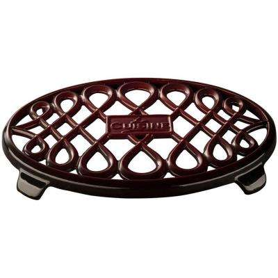 Cast Iron Non-slip Ruby Trivet