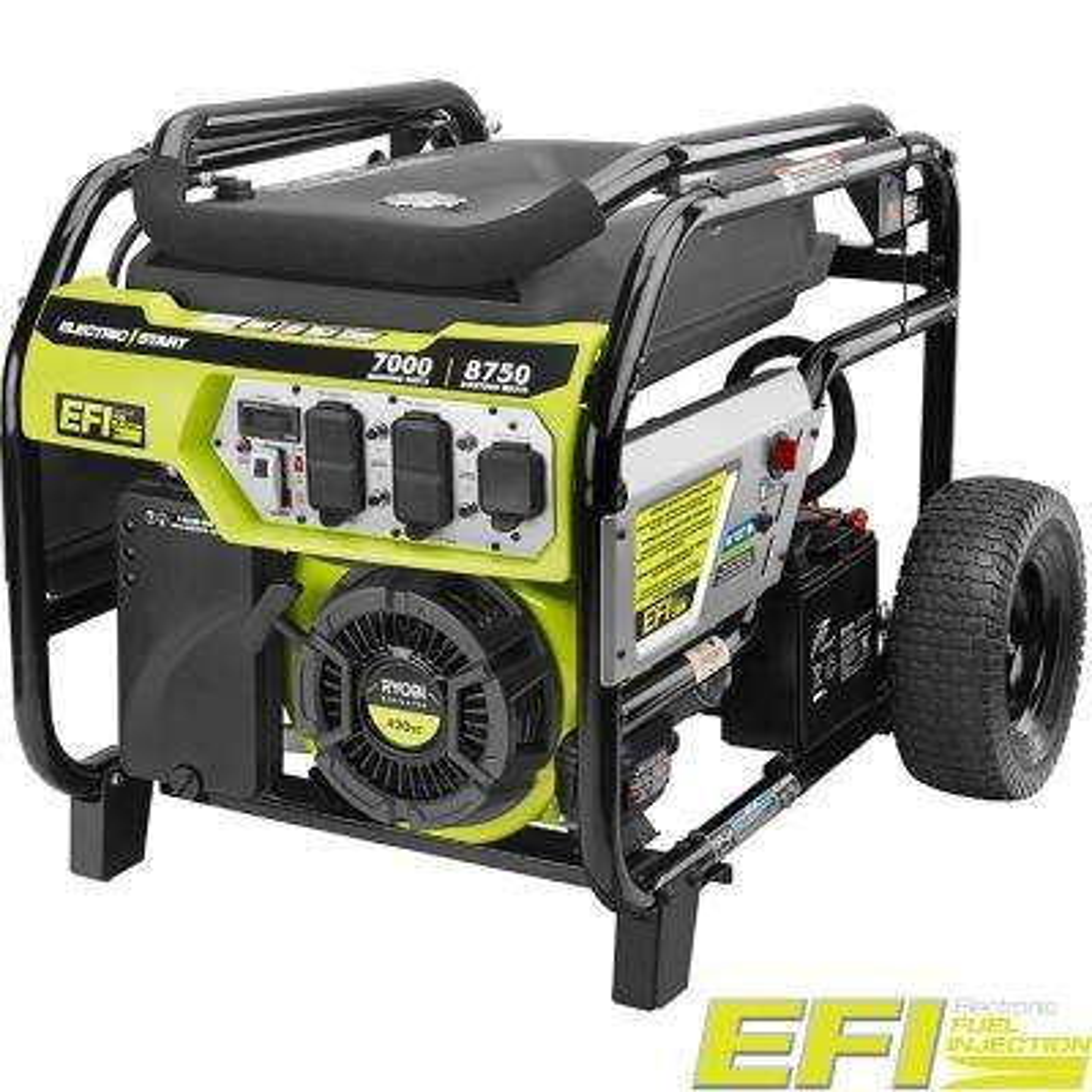7000-Watt Electronic Fuel Injected (EFI) Gasoline Powered Electric Start Portable Generator with CO Shutdown Sensor