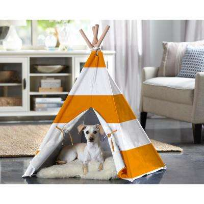 Medium Orange Stripe Pet Teepee