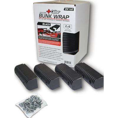 2 in. x 4 in. Bunk Wrap Kit With 4 Endcaps and Stainless Steel Hardware in Black