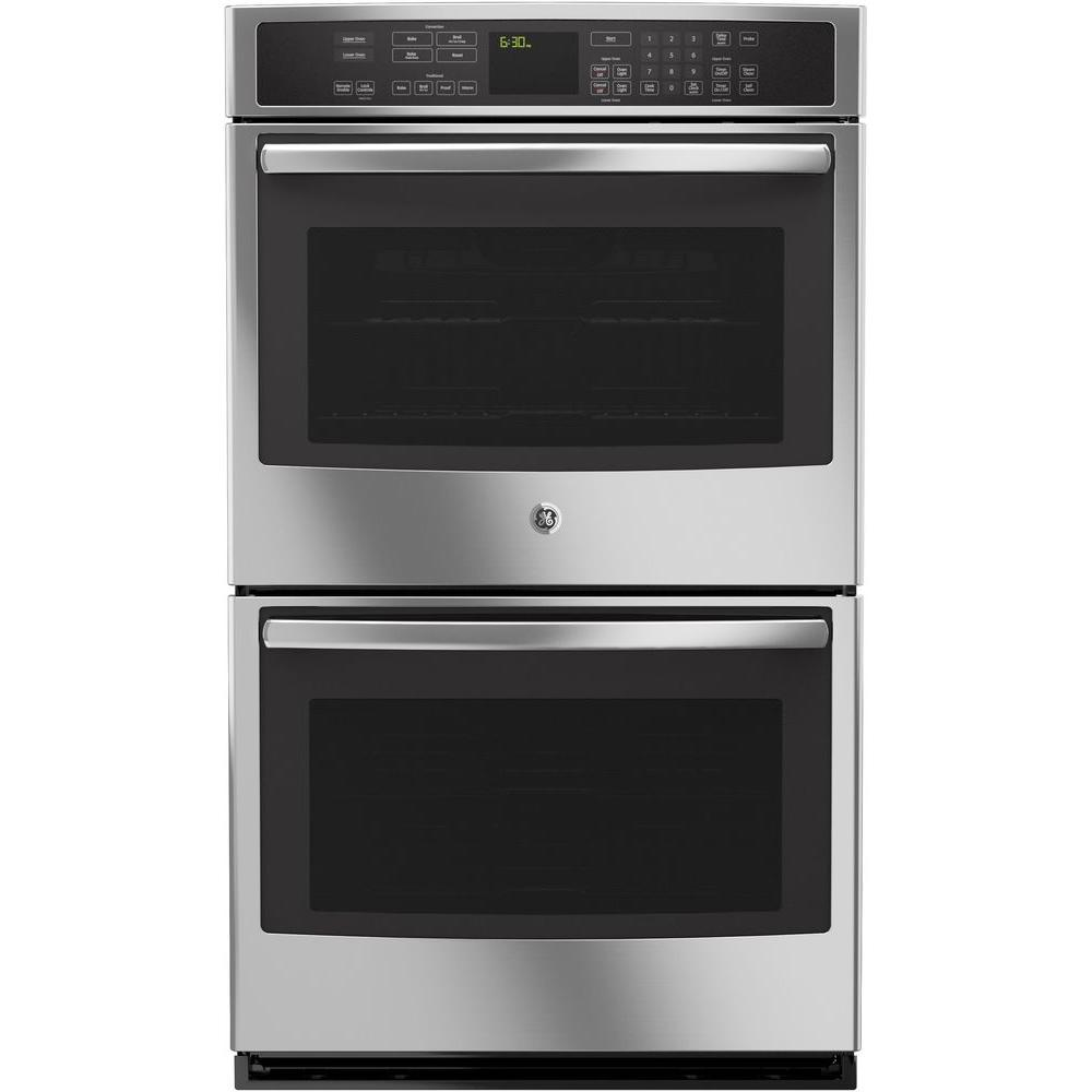 GE Profile 30 in. Double Electric Smart Wall Oven Self-Cleaning with Convection and Wi-Fi in Stainless Steel
