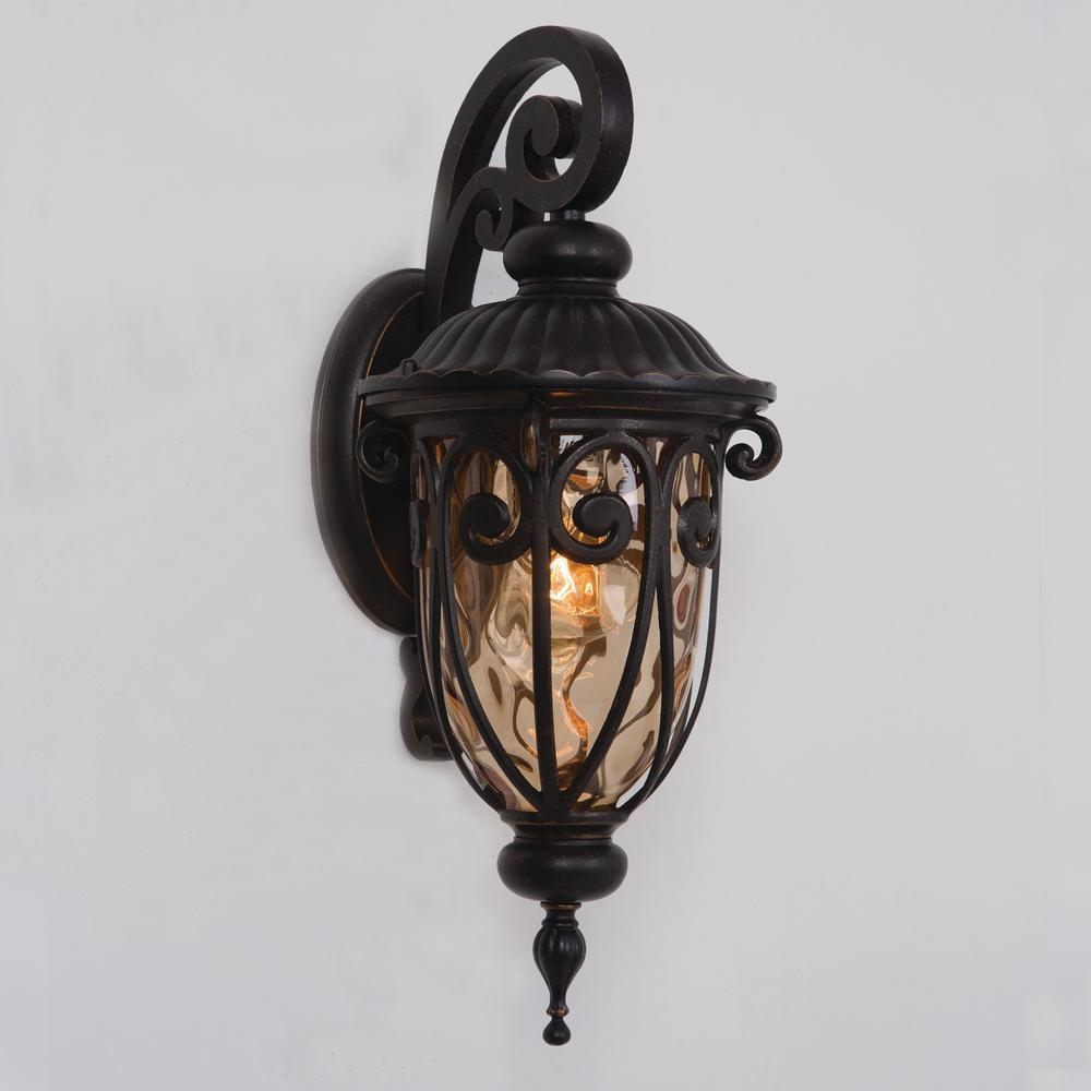 Yosemite Home Decor Viviana Collection 1-Light Oil-Rubbed Bronze Outdoor Wall Lantern Sconce