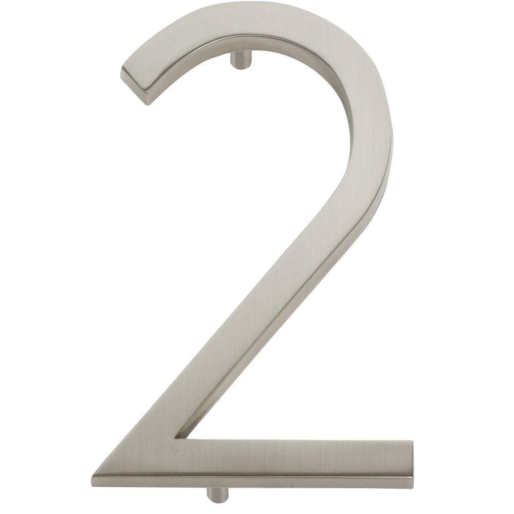Modern Avalon Collection 4.5 in. Brushed Nickel Number 2