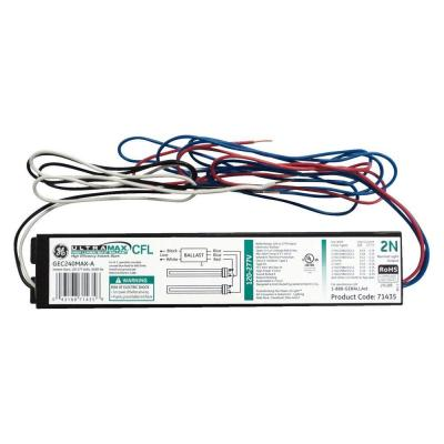 electronic ballast for 2 or 1-lamp compact fluorescent light bulb fixture