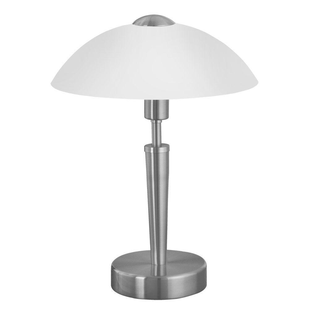 Eglo Solo 13.75 in. 1-Light Matte Nickel Table Lamp