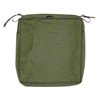 Montlake Fade Safe Heather Fern 17 in. Square Outdoor Seat Cushion Cover