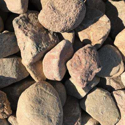4 in. to 8 in. Pink Granite Landscaping Cobble (2500 lb. Contractor Pallet)
