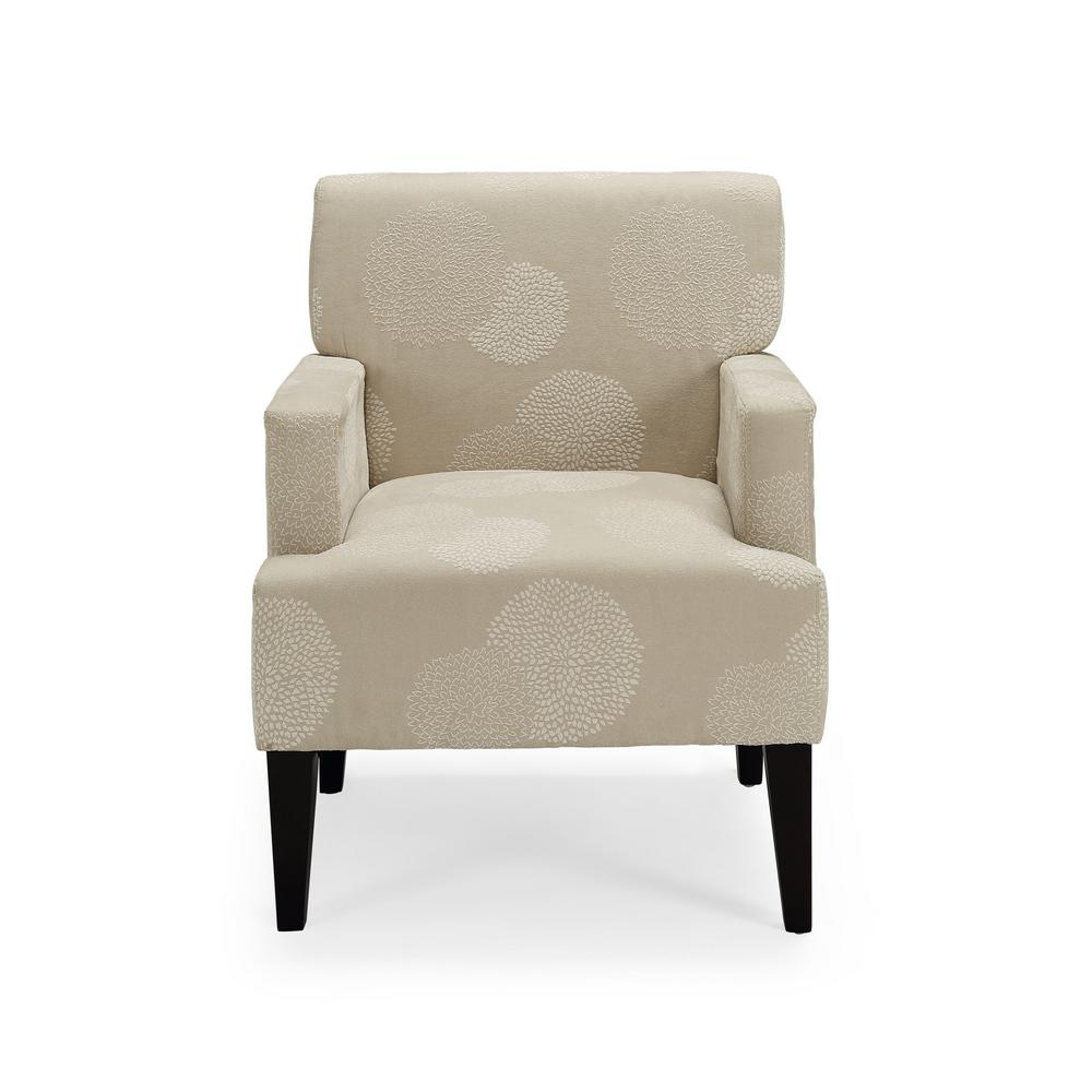 Tux Ivory Sunflower Accent Chair