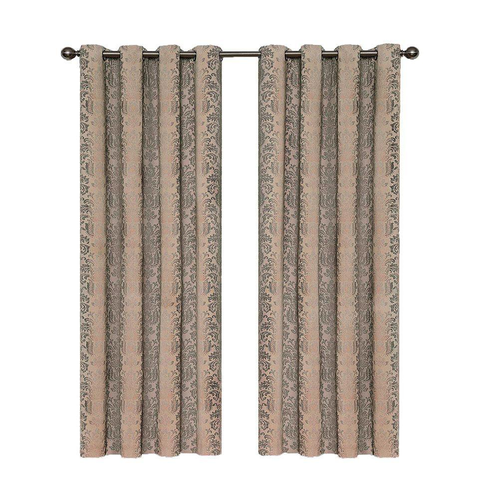 Nadya Blackout Linen Polyester Curtain Panel, 84 in. Length (Price Varies