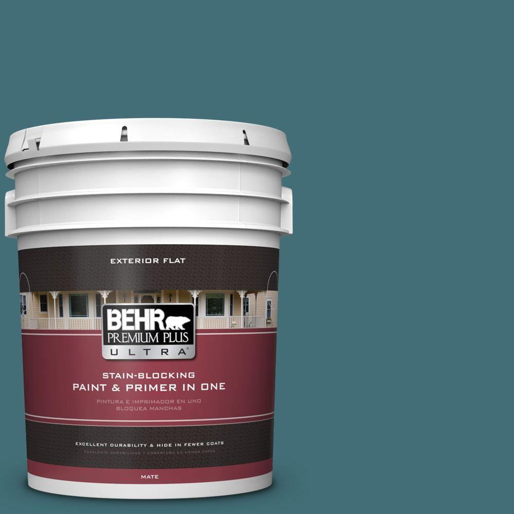 BEHR Premium Plus Ultra 5-gal. #520F-6 Cathedral Flat Exterior Paint