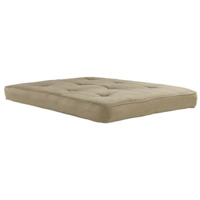 6 in. Coil Futon Full Size Mattress with CertiPUR-US Certified Foam in Tan