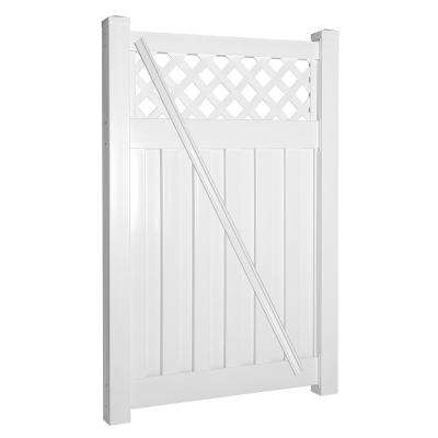 Clearwater 4 ft. W x 6 ft. H White Vinyl Privacy Fence Gate